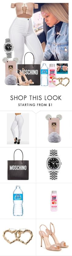 """""""Bestie neice Chucky cheese bash"""" by princesscece ❤ liked on Polyvore featuring Moschino, Rolex, VO5, Forever 21 and Giuseppe Zanotti"""