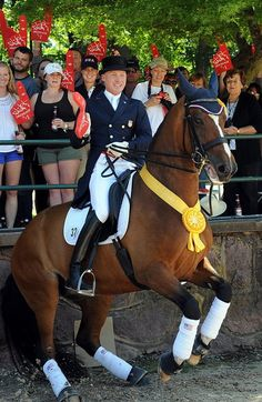 Why oh why does Romney have to be involved in dressage?! At least Jan Ebeling and Rafalca are a fun loving pair.