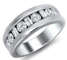 Mens Wedding Rings with Diamonds
