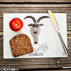 Frühstücksbrettchen mit Sternzeichen STEINBOCK