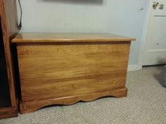 Toy box (just did the finish myself) for rhe entertainment center.