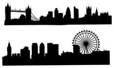 London Skyline Silhouette Wall Decal Black Modern Decals