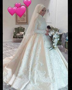 - Wedding and Gowns Hijabi Wedding, Wedding Hijab Styles, Muslimah Wedding Dress, Hijab Style Dress, Muslim Wedding Dresses, Muslim Brides, Bridal Dresses, Muslim Gown, Bridal Hijab