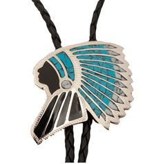 Johnson and Held Indian Head Bolo Tie