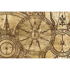 Old Compass Rose maybe in the center of a dream catcher tattoo?