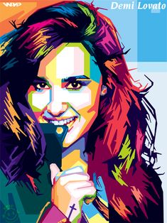 Demi Lovato in wpap by NealWDart.deviantart.com on @DeviantArt
