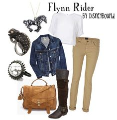 absolutely adore flynn rider and this outfit!