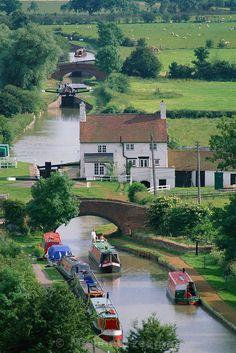 Napton Locks - England