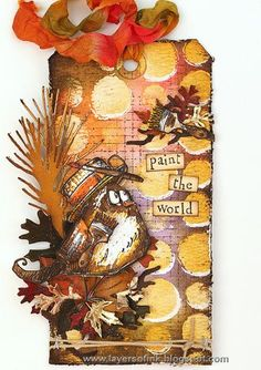 Challenge: Love This Technique #timholtz #ranger #ideaology #sizzix #stampersanonymous