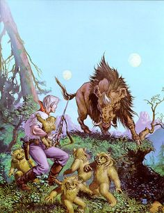 """Michael Whelan -  Panic.                                                                                      I guess that's a """"Damn Thing"""".  Love the Little Fuzzies by H. Beam Piper"""