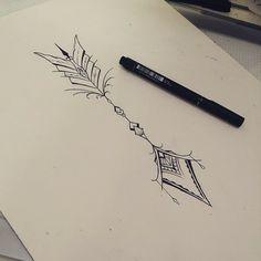 """Arte feita por <a href=""""http://instagram.com/morceguinhatattoo"""">@morceguinhatattoo</a>!  Qual desenho você gostaria de ver aqui no tattoo2me?"""