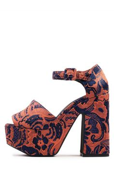 Jeffrey Campbell Shoes CANDICE in ORANGE BLUE