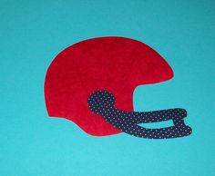 Fabric Applique TEMPLATE Pattern ONLY Football HELMET....New
