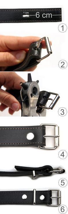 DIY : Rollschnallen montieren. Für Taschen oder Gürtel!