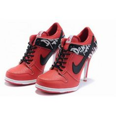 finest selection c5b5c 74203 Women Nike Dunk SB Low Heels Red Black Nike Wedge Sneakers, Nike High Heels,