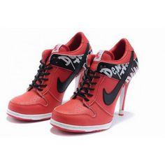 finest selection db2bb 72cf4 Women Nike Dunk SB Low Heels Red Black Nike Wedge Sneakers, Nike High Heels,