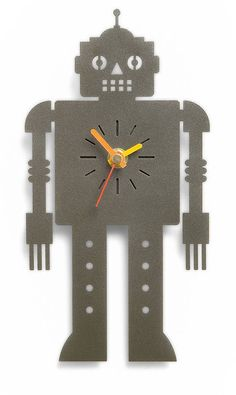 'sentinel' metal wall clock by the original metal box company | notonthehighstreet.com