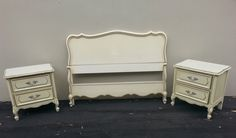 Vintage French Provincial Bed Set by Dixie by ProvincialbutFrench, $425.00