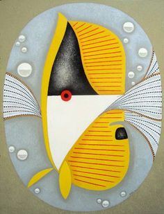 "Saatchi Art Artist Faridun Zoda; Painting, ""Yellow Fish"" #art"