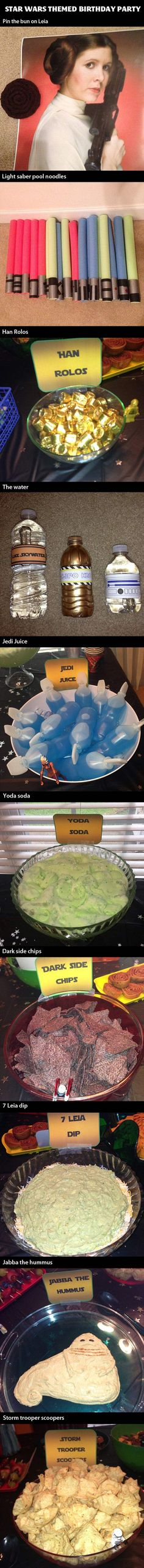 Star Wars themed birthday party… that is totally going to happen