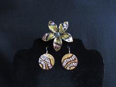 #120 Earrings and Clip $55 - Kikih Care