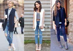 Tiempo De Llevar Blazer Sin Mangas - Belleza Y Moda - Estampas