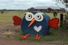 Image result for hay bale art