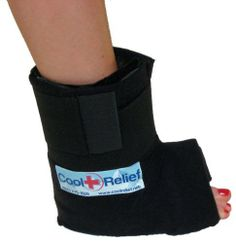Ankle Ice Pack, Cold Wrap by Cool Relief (1 Set of Inserts) by Cool Relief. $49.99. Effectively relieve pain and swelling from ankle injuries with the Ankle Ice Wrap, Cold Pack by Cool Relief. Cool Relief ice wraps ensure a faster and safer recovery with high quality materials so you can get back to activity faster. This ankle ice wrap is design to effortlessly relieve pain and swelling in the ankle with lightweight compression. Fitting like an open boot, this prod...