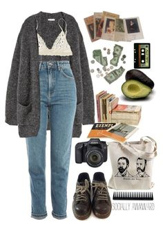 """Untitled #23"" by alexmazarakh on Polyvore featuring Kofta, Eberjey, Topshop, Dr. Martens, Eos, GHD, Monet and Michele"