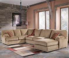Sectional sofas oscars and sofas on pinterest for Bartlett caramel left corner chaise sectional