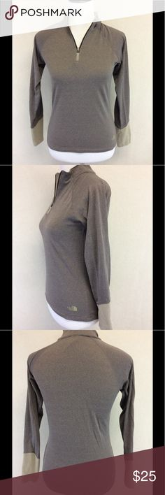 """XS THE NORTH FACE 1/4 zip thermal Brand: The north face Style: 1/4 zip thermal Size: XS Approximate Measurements: pit to pit 16.5"""" shoulder to hem 21.5""""  Material: 89% polyester 11% elastane Condition: very good pre-loved The North Face Tops"""