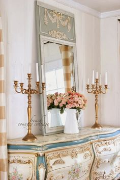 FRENCH COUNTRY COTTAGE: French inspired mirror