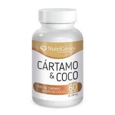 Coco e Cártamo é um composto que atua como antioxidante, auxiliar da queima de gorduras corporais, fortalecedor do sistema imunológico.