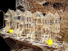 Toothpick Cityscapes - Scott Weaver's San Francisco Toothpick City is an Amazing Display of Art (GALLERY)