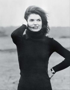 Jackie Kennedy post JFK, launching women's need for the Cartier Tank, which was originally a man's watch.