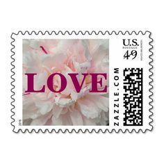 Blush Pink Peony Save the Date Postage Stamps Blush Peonies, Peony, Blush Pink, Vow Renewal Invitations, Wedding Invitations, Wedding Postage Stamps, Wedding Stamps, Vow Renewal Ceremony, Love Stamps