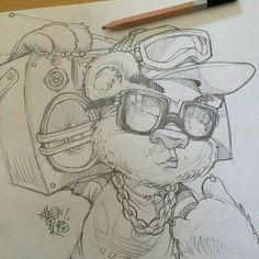 Drawn Teddy Bear graffiti 1 - 640 X 640 Cartoon Drawings, Cool Drawings, Cartoon Art, Drawing Sketches, Graffiti Drawing, Graffiti Art, Nici Teddy, Images Graffiti, Tattoo Painting