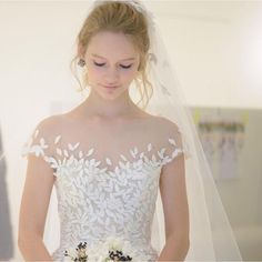 Our New Charlie dress, exquisite!!! Beautiful photo from @novaresewedding #mirazwillinger #couture #stardust collection