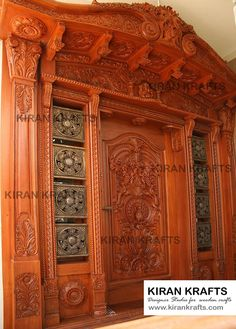 Carved Main Door: Wooden doors by Kiran Enterprises Indian Main Door Designs, Single Main Door Designs, House Main Door Design, Wooden Front Door Design, Main Entrance Door Design, Double Door Design, Pooja Room Door Design, Door Gate Design, Door Design Interior