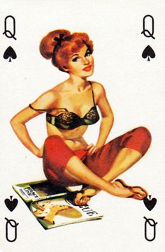 1950s Pin-up Playing Cards