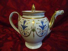 extremly rare 18th c old paris porcelain manufacture de nast teapot ca 1800