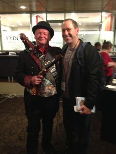 Conflux 2013: Robert Porteous and myself at the Next book launch.