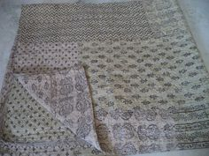Indian Quilt -Vintage Quilt Old Patola Indian Silk Sari Kantha Quilted Patchwork Bedspread,Throws, Gudari Handmade Tapestry