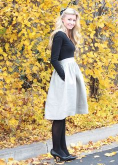 Make a high-waisted winter T-shirt dress. | 24 Awesome Maternity Outfits You Can Make Yourself