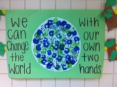 Simple and meaningful Earth Day handprint activity.