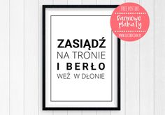 Plakaty do łazienki do druku Letter Board, Diy And Crafts, Thoughts, Funny, Poster, Photo Booths, Design, Home Decor, Decoupage