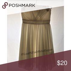 CREAM DRESS List use cream color dress strap less H&M Dresses Strapless