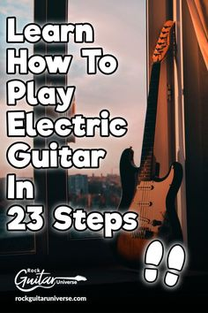 electric guitar chords Learn How To Play Electric Guitar In 23 Steps Learn Electric Guitar, Electric Guitar Lessons, Learn To Play Guitar, Electric Guitar For Beginners, Semi Acoustic Guitar, Guitar Chords Beginner, Guitar Youtube, Youtube Songs, Custom Electric Guitars