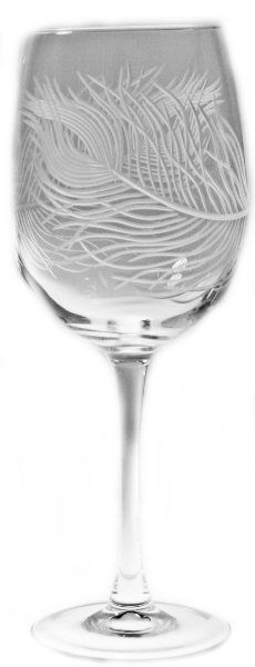 Peacock Large Wine Glasses 19oz Set of 4 Nautical Tropical Home Decor:Amazon:Kitchen & Dining