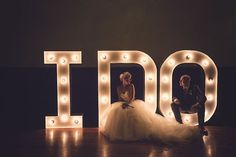 Amazing 'I Do' light up letters wedding sign / Babb Photo / Bridal Musings